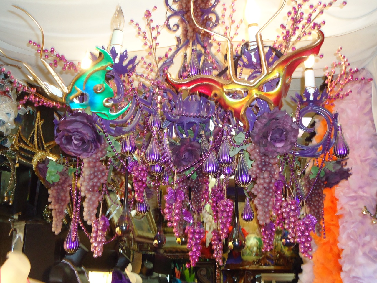 Mardi gras chandelier musethecollective mardi gras 8 light chandelier kalco costumes 2017 costumes san antonio atlantis discovered arubaitofo Choice Image